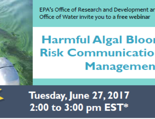 EPA – Harmful Algal Blooms Webinar, June 27, 2017 (1:00 – 2:30pm)