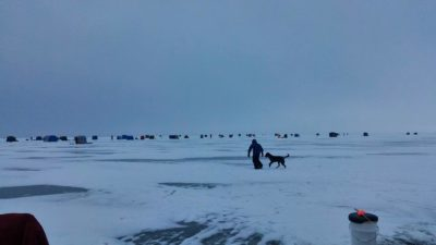 Ice Fishing On Winnebago