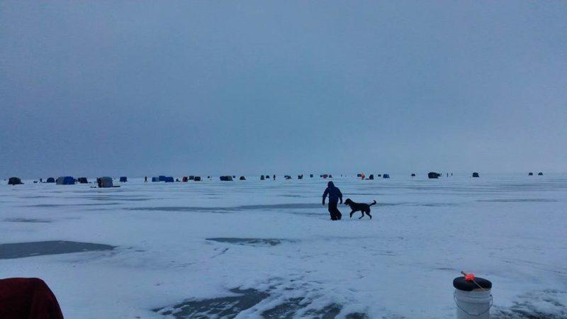 Ice Fishing On Winnebago